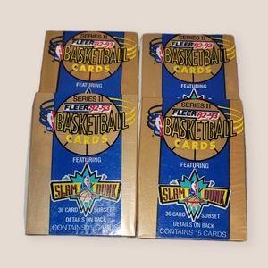 3 pks Fleer 1992-93 Basketball Cards
